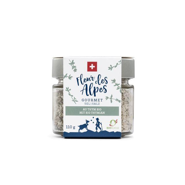 Fleur des Alpes Gourmet Salz mit Schweizer Biothymian