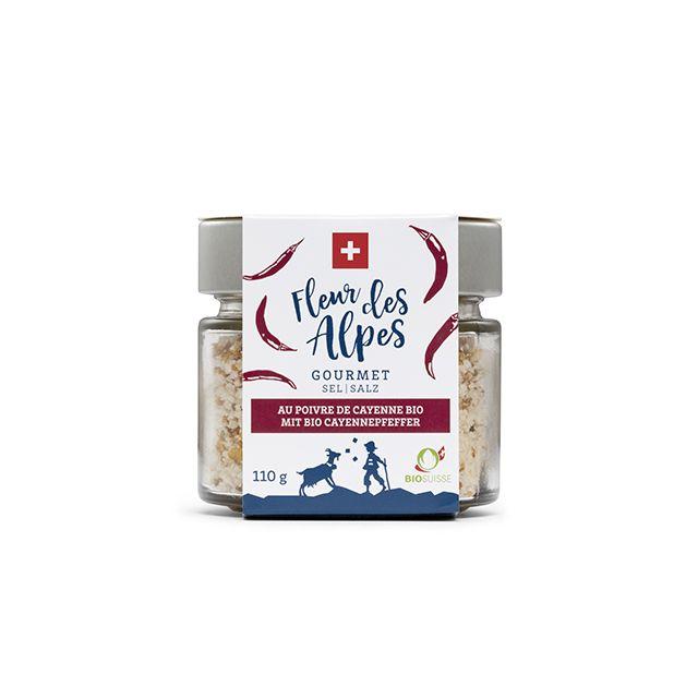 Fleur des Alpes Gourmet Salz mit Schweizer Bio-Cayennepfeffer